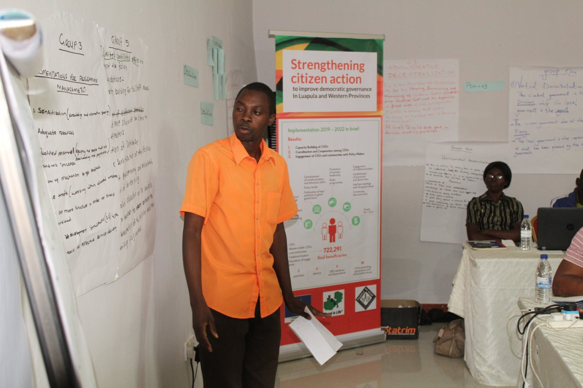 Empowerment of civil societies and democratic governance in Luapula Province and Western Province