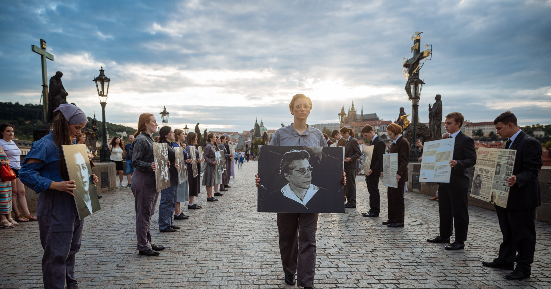 Dozens of students paid tribute to the memory of Milada Horaková