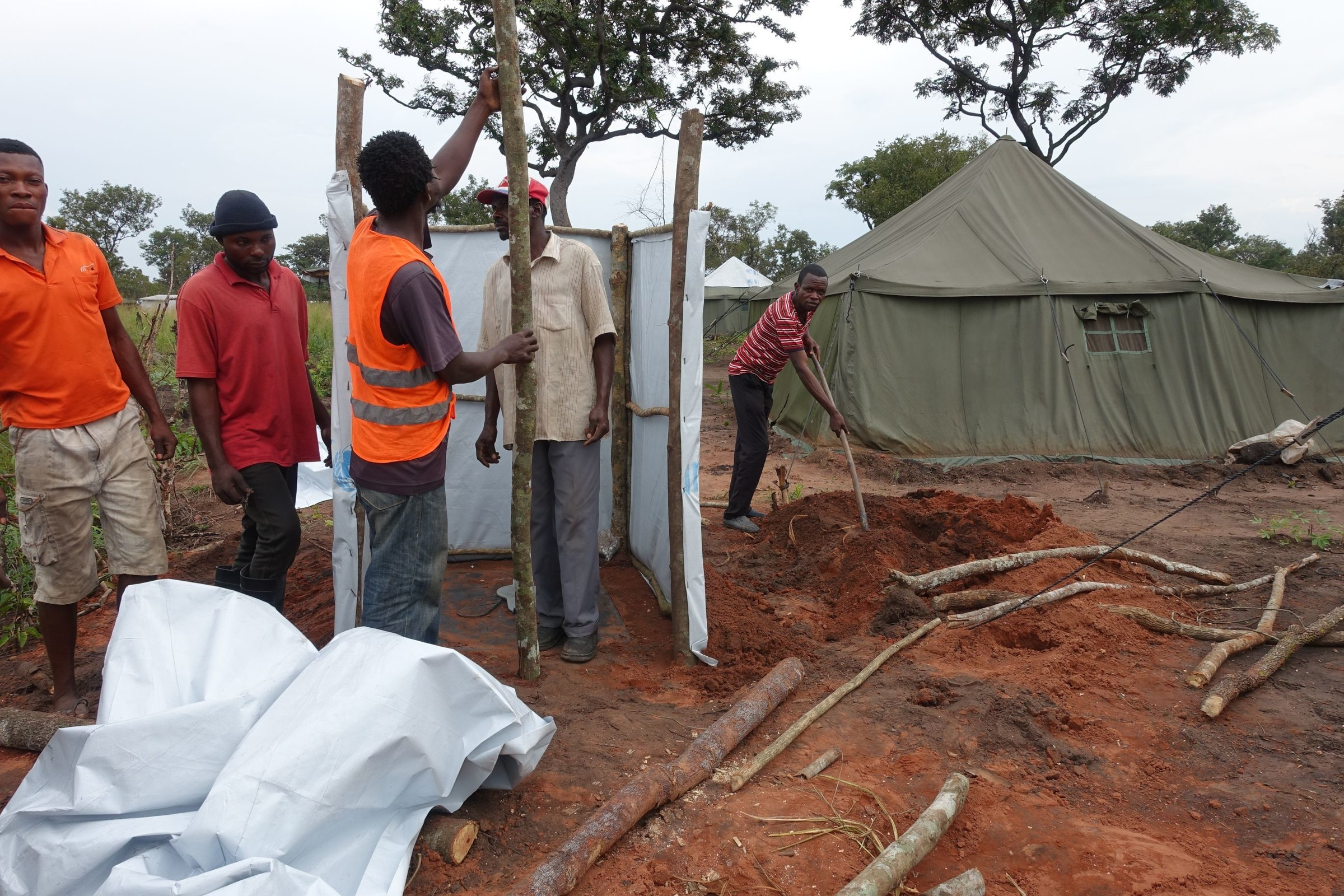 Helping refugees in Angola